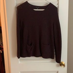 Adrienne Vittadini Deep Purple Knit Sweater